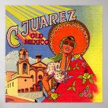 Spanish Senorita from Cuidad Juarez Posters