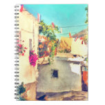 Spanish Side Street Watercolor Note Book