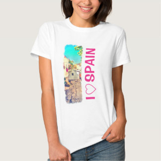 Spanish Side Street Watercolor T-Shirt
