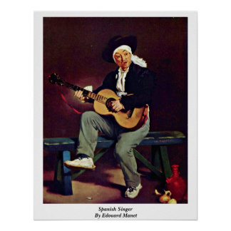 Spanish Singer By Edouard Manet Posters