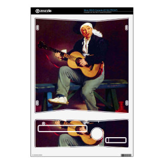 Spanish singer by Edouard Manet Decals For Xbox 360 S