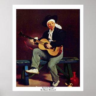 Spanish Singer By Manet Edouard Poster