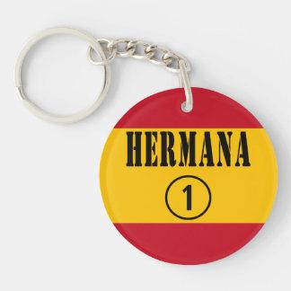 Spanish Sisters : Hermana Numero Uno Single-Sided Round Acrylic Keychain