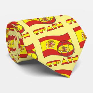 Spanish Soccer Ball and Flag Tie