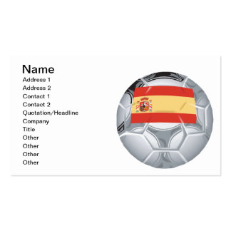 Spanish Soccer Ball Double-Sided Standard Business Cards (Pack Of 100)