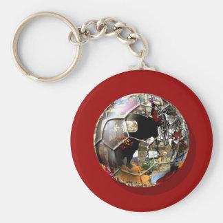 Spanish Soccer ball - Culture & football can mix ! Key Chain