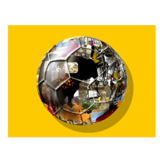 Spanish Soccer ball - Culture & football can mix ! Postcard