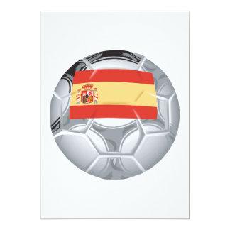 Spanish Soccer Ball 5x7 Paper Invitation Card