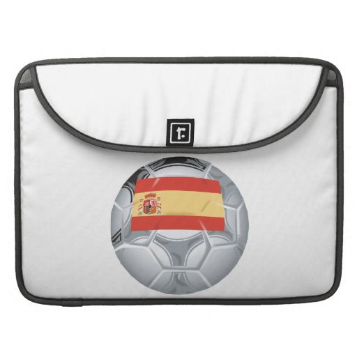 Spanish Soccer Ball MacBook Pro Sleeves