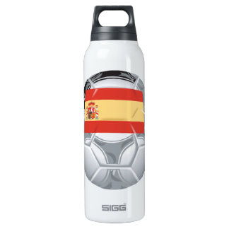 Spanish Soccer Ball 16 Oz Insulated SIGG Thermos Water Bottle