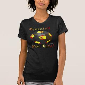 Spanish Soccer Fan 4 Life Ladies Twofer Shirt