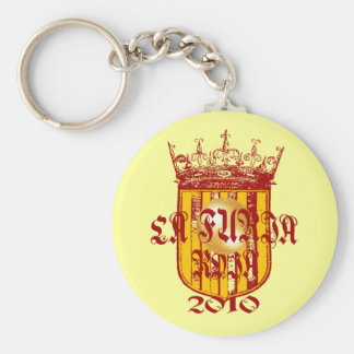 Spanish soccer futbol kings - La Furia Roja 2010 Keychain