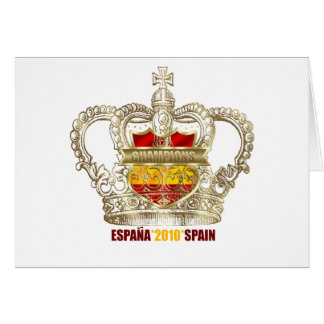 Spanish Soccer kings 2010 World Champions Card