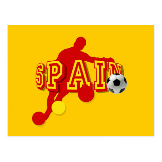 Spanish Soccer Players Bend it Tees and gifts Postcard
