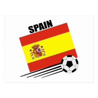Spanish Soccer Team Postcard