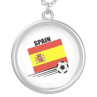 Spanish Soccer Team Round Pendant Necklace