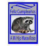 spanish son birthday greeting card