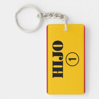 Spanish Sons : Hijo Numero Uno Double-Sided Rectangular Acrylic Keychain