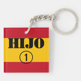 Spanish Sons : Hijo Numero Uno Double-Sided Square Acrylic Keychain
