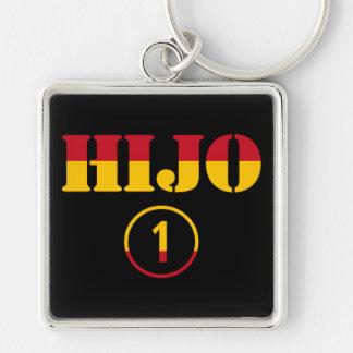 Spanish Sons : Hijo Numero Uno Silver-Colored Square Keychain