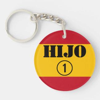 Spanish Sons : Hijo Numero Uno Single-Sided Round Acrylic Keychain