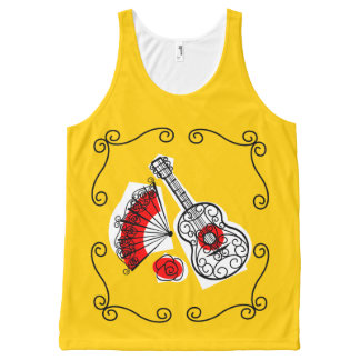 Spanish Souvenirs Corners red back All-Over-Print Tank Top