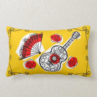 Spanish Souvenirs corners red back pillow lumbar