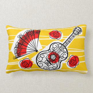 Spanish Souvenirs group red back lumbar Pillow
