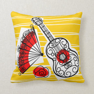 Spanish Souvenirs group red back square Throw Pillow