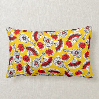 Spanish Souvenirs red back pillow lumbar