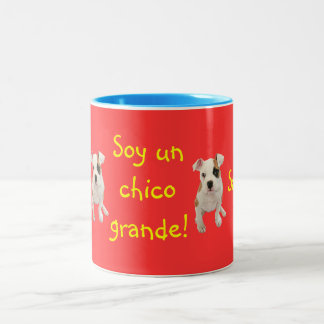 Spanish: Soy un chico grande! Two-Tone Coffee Mug
