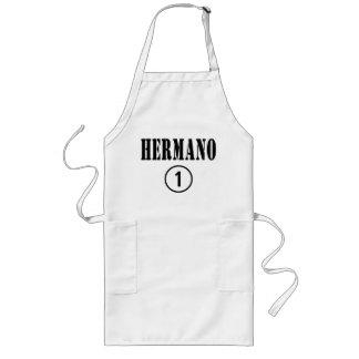 Spanish Speaking Brothers : Hermano Numero Uno Long Apron