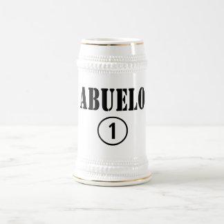 Spanish Speaking Grandfathers : Abuelo Numero Uno Beer Stein