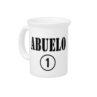 Spanish Speaking Grandfathers : Abuelo Numero Uno Drink Pitcher