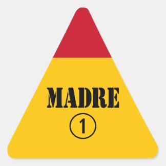 Spanish Speaking Mothers & Moms : Madre Numero Uno Triangle Sticker