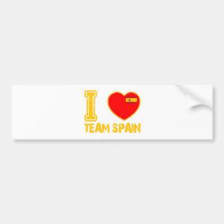 spanish sport designs bumper sticker