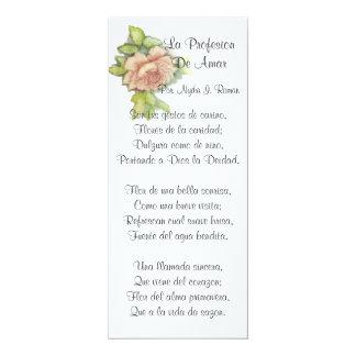 Spanish ST. Valentine's Poem-Customize Card