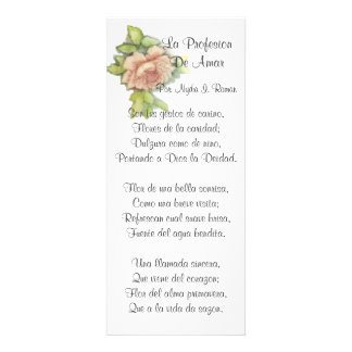 Spanish ST. Valentine's Poem-Customize Custom Announcement