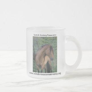Spanish Stallion Frosted Glass Coffee Mug