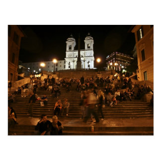 Spanish Steps by Night Post Card
