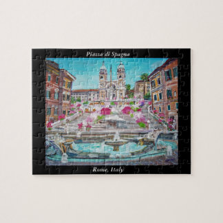 Spanish Steps - Jigsaw Puzzle
