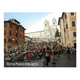 Spanish Steps Postcard