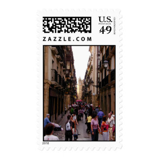 Spanish Street Stamp