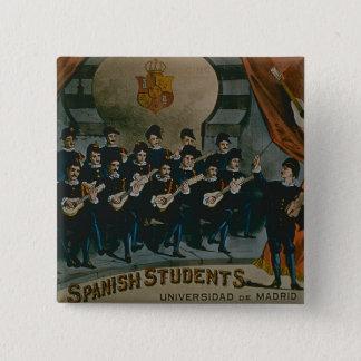 'Spanish Students, University of Madrid' (colour l Button