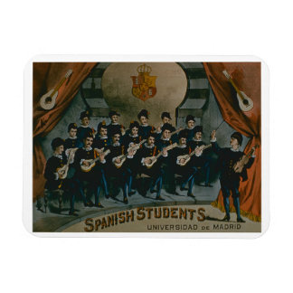 'Spanish Students, University of Madrid' (colour l Magnet