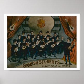 'Spanish Students, University of Madrid' (colour l Poster