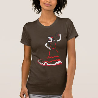 spanish sugar skull dancer tshirts