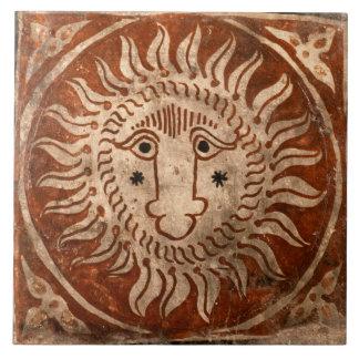 Spanish Sun Ceramic Photo Tile