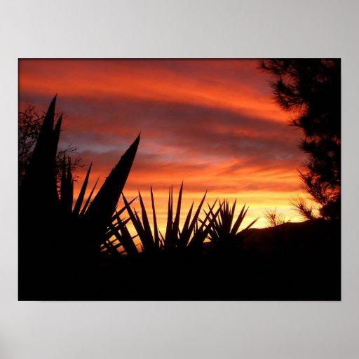 Spanish sunrise poster
