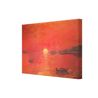 Spanish Sunset Stretched Canvas Prints